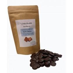 pastilles chocolat noir à pâtisser