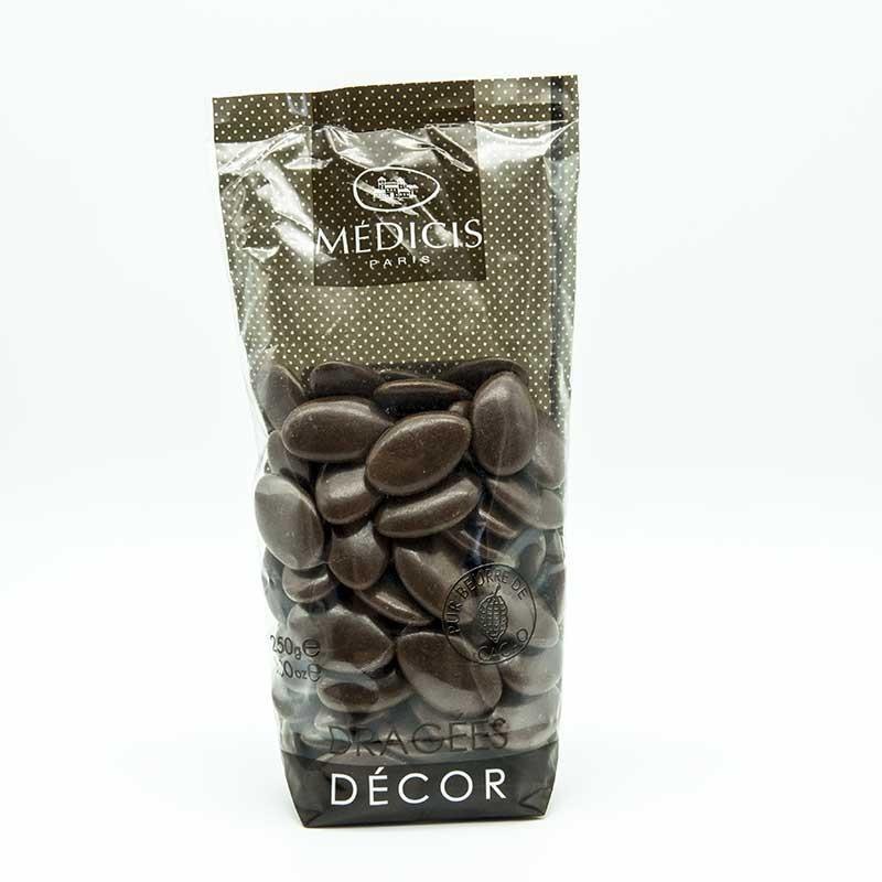 Dragées Chocolat Décor Médicis Taupe