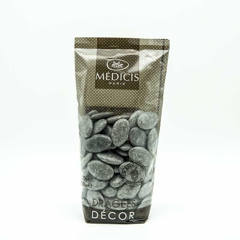 Dragées Chocolat Décor Médicis Gris Granit